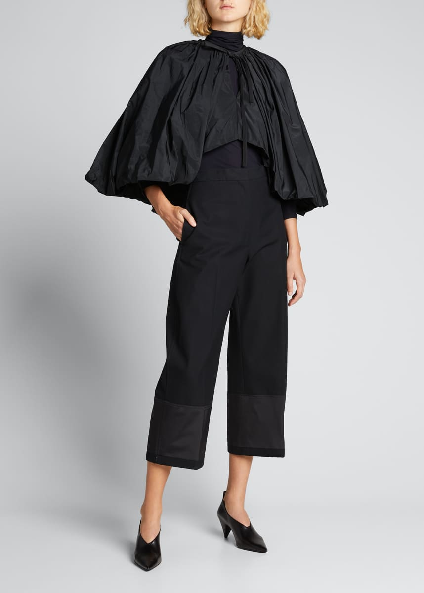 Jil Sander Cropped Straight-Leg Trousers