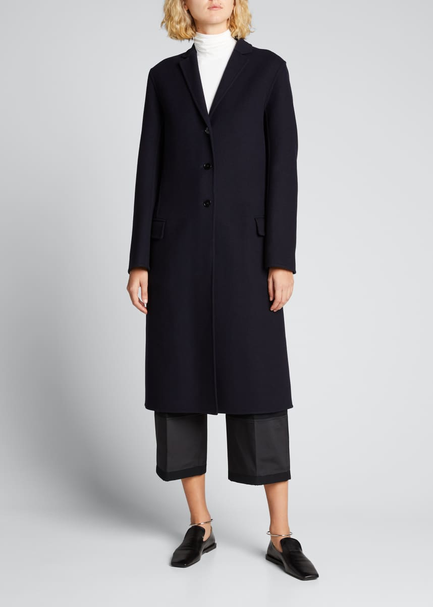 Jil Sander Double-Face Cotton Essential Three-Button Coat
