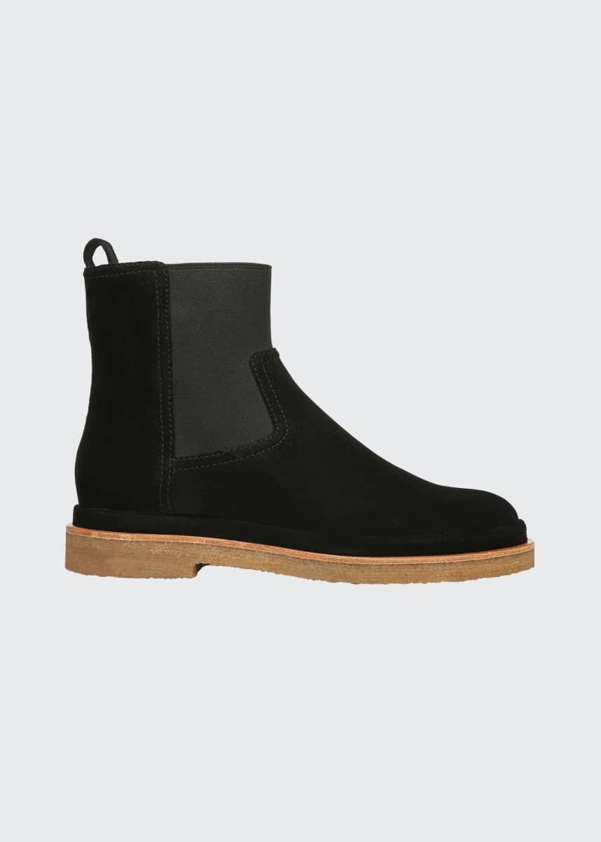Vince Litton Water-Repellant Suede Booties