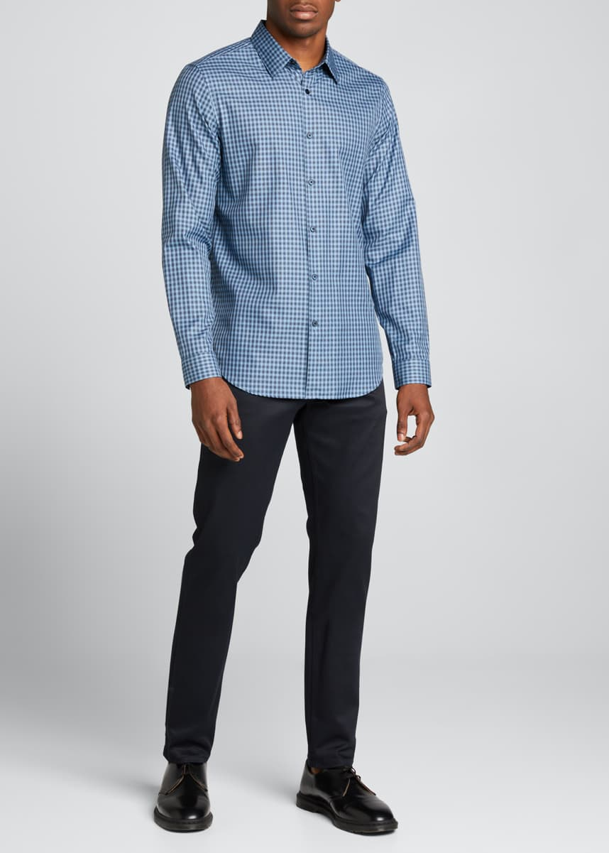 Theory Irving Woven Check Sport Shirt