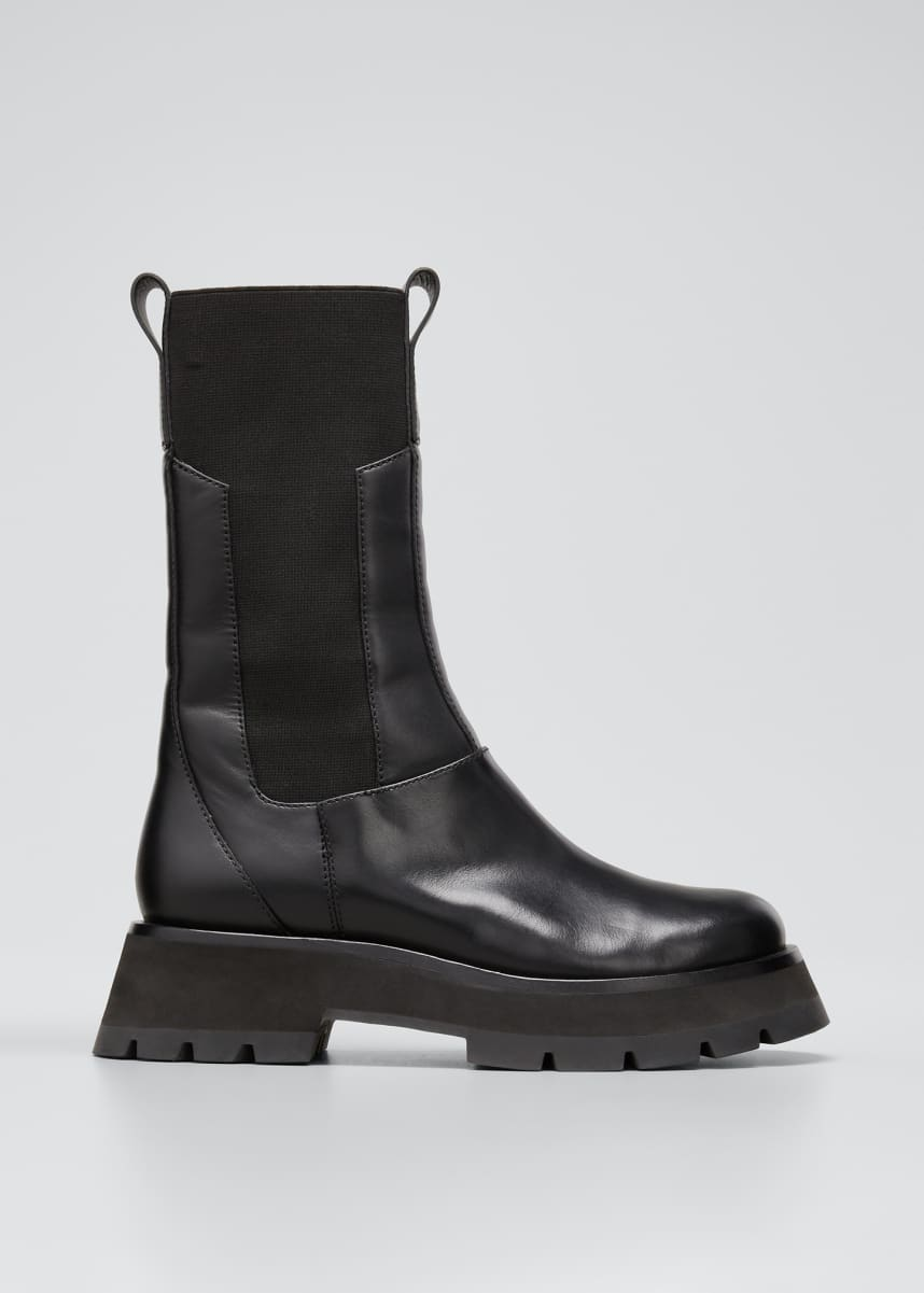 3.1 Phillip Lim Kate Stretch Leather Combat Boots