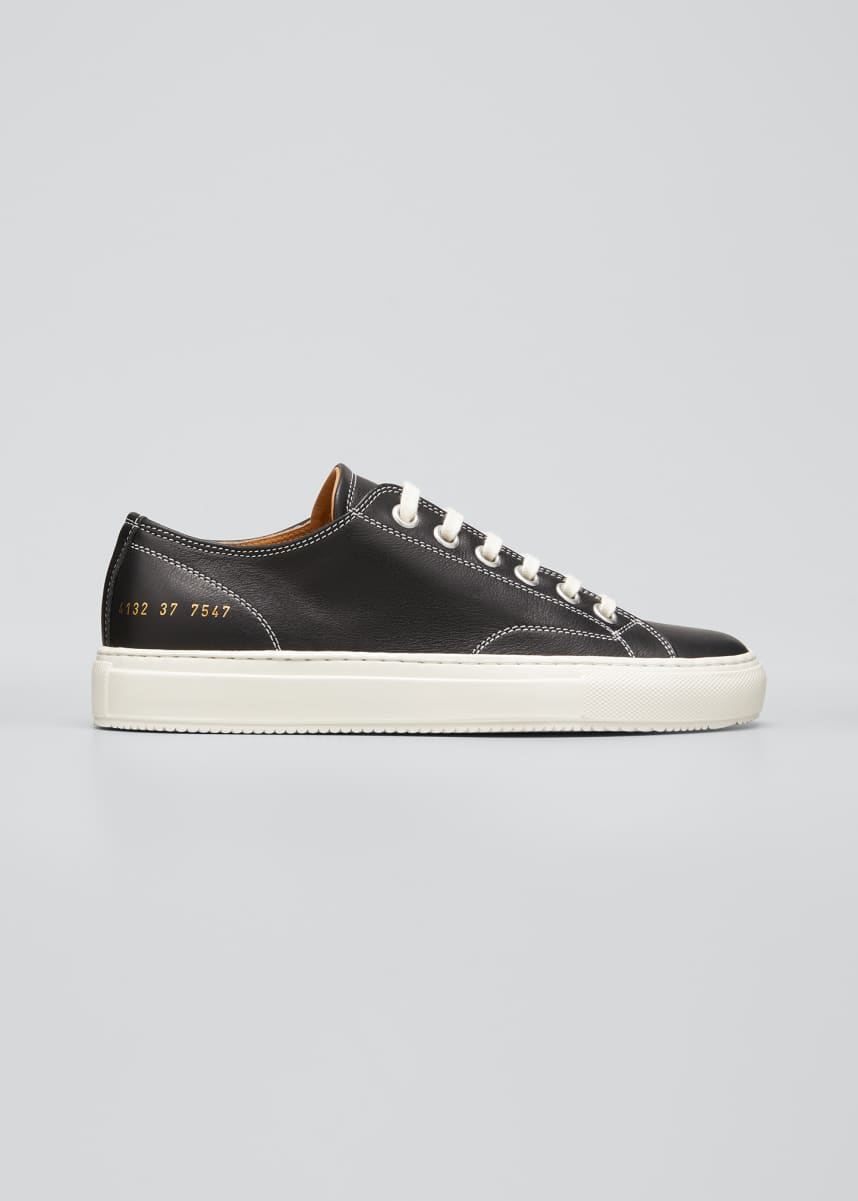 Common Projects Tournament Leather Low-Top Sneakers