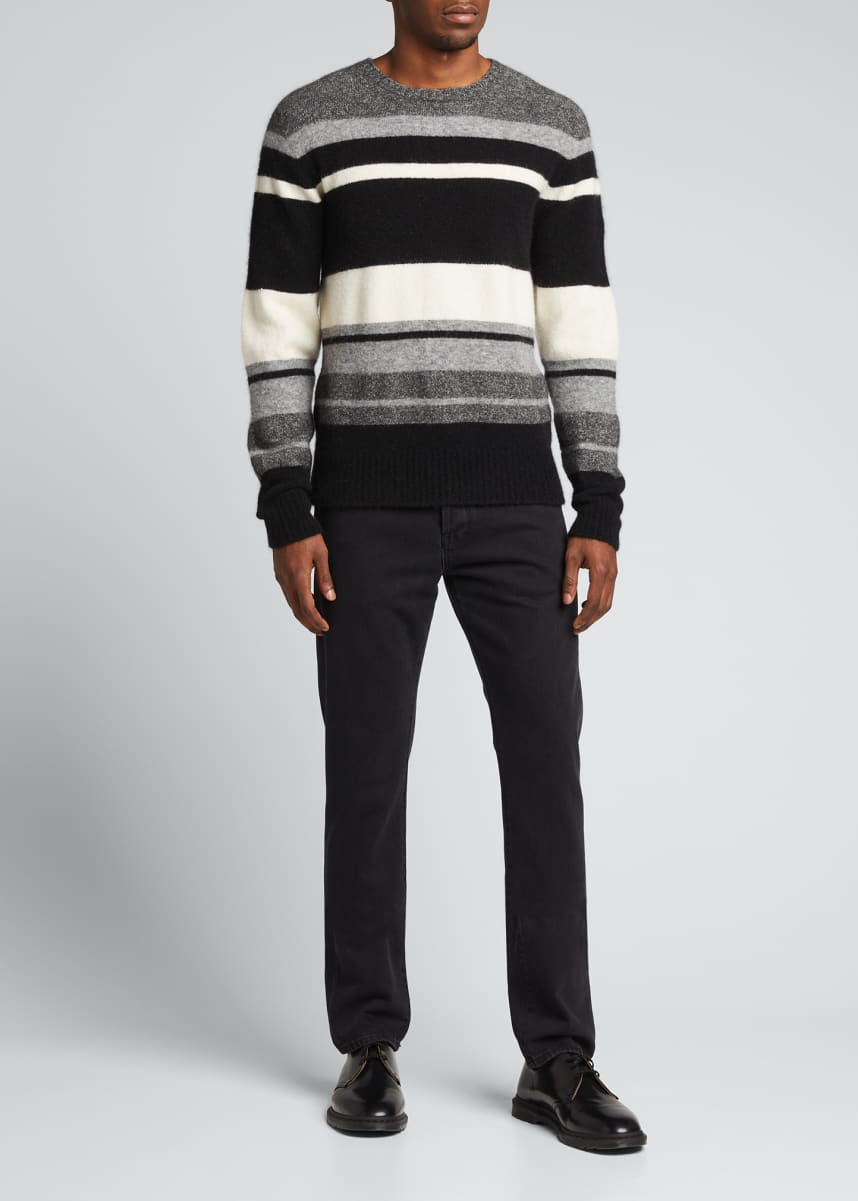 Officine Generale Men's Macro Multi-Stripe Sweater