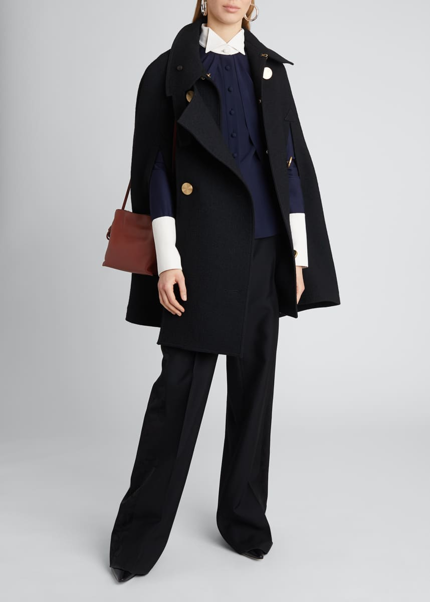 Loewe Military Wool-Blend Cape