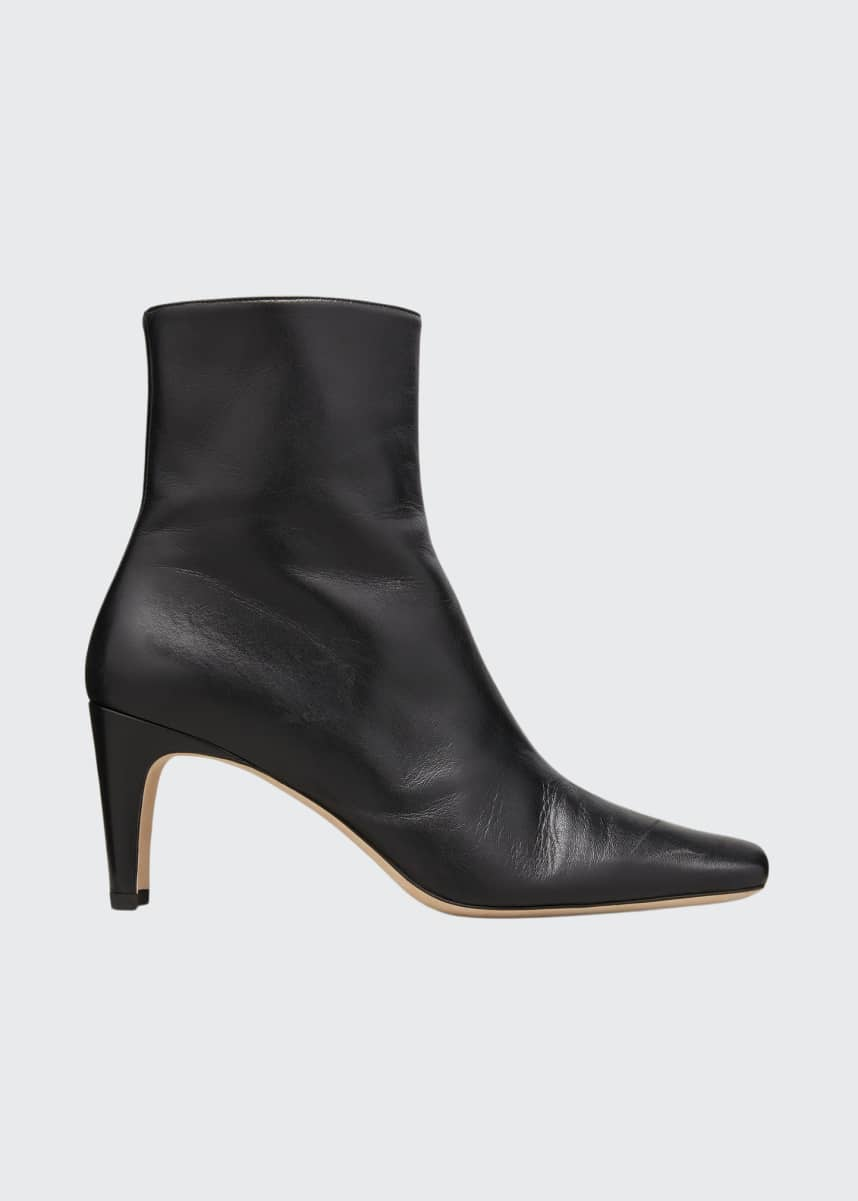 Staud Eva Square-Toe Ankle Booties
