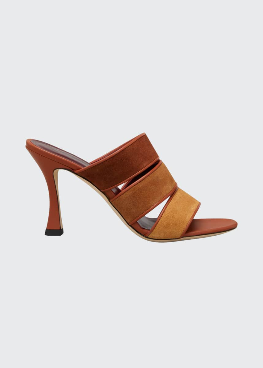 Staud Sonny Colorblock Slide Sandals