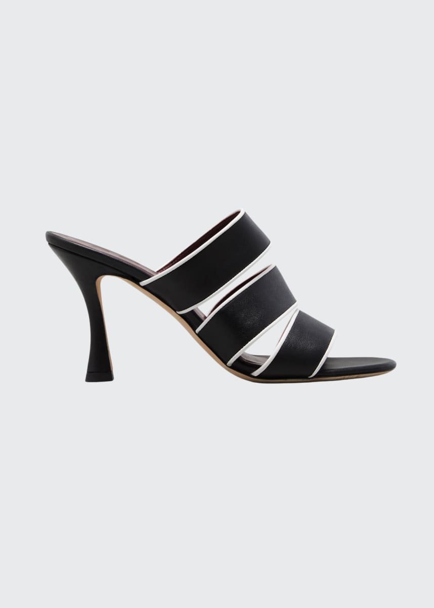 Staud 55mm Sonny Bicolor Slide Sandals