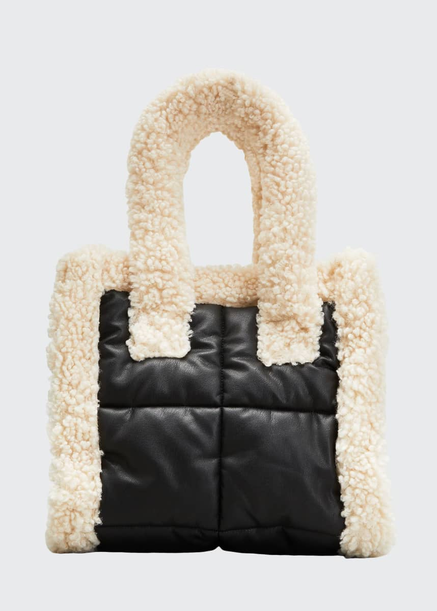 Stand Studio Liz Small Quilted Furry Tote Bag