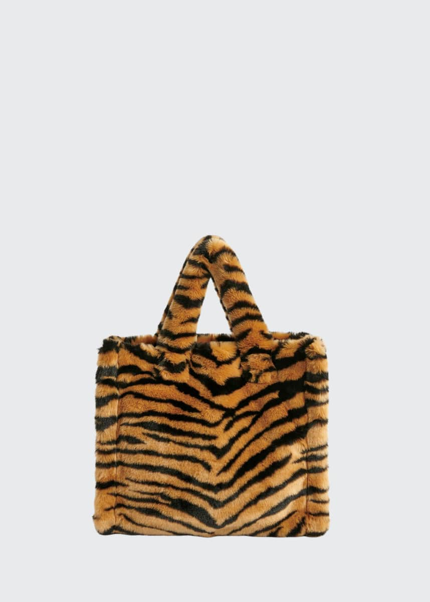 Stand Studio Lolita Medium Furry Tiger Tote Bag