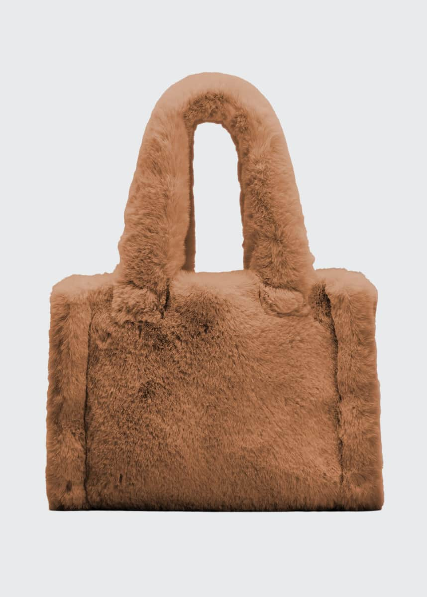 Stand Studio Liz Small Furry Top Handle Tote Bag