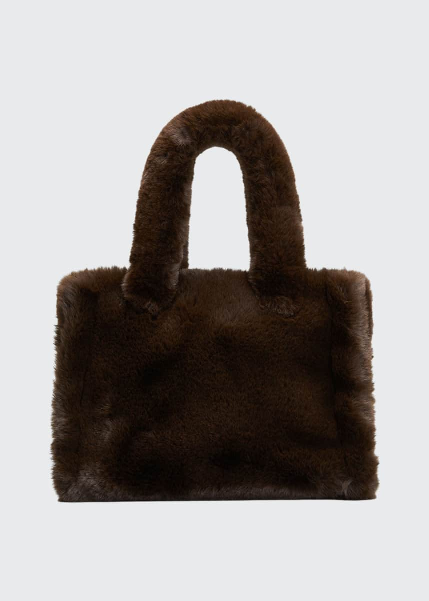 Stand Studio Liz Small Fuzzy Faux-Fur Tote Bag