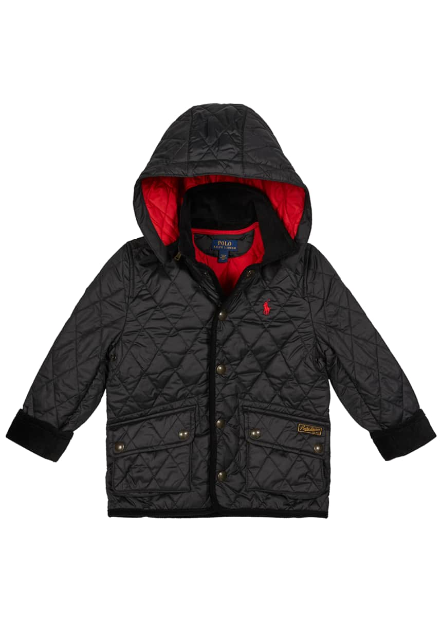 Ralph Lauren Childrenswear Boy's Penny Kempton Quilted Puffer Car Jacket, Size S-L