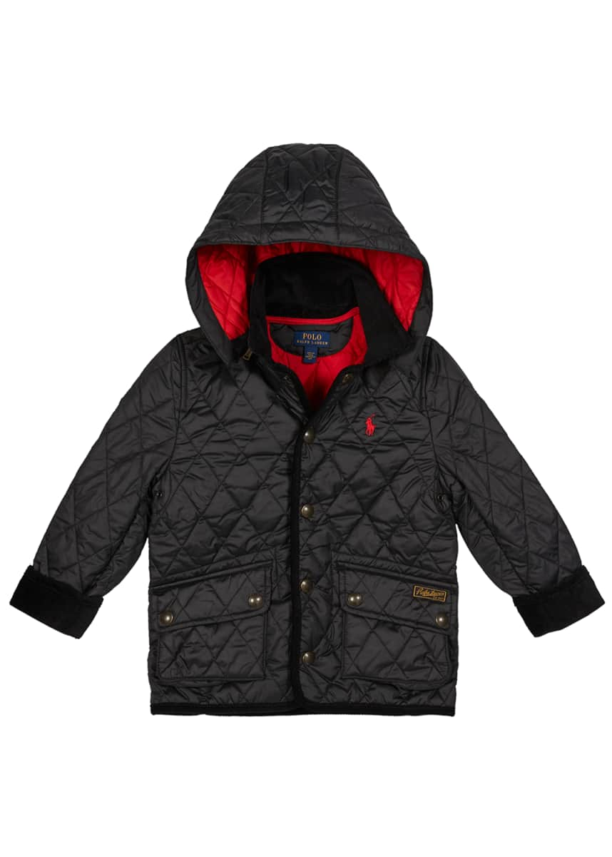 Ralph Lauren Childrenswear Boy's Penny Kempton Quilted Puffer Car Jacket, Size 2-3