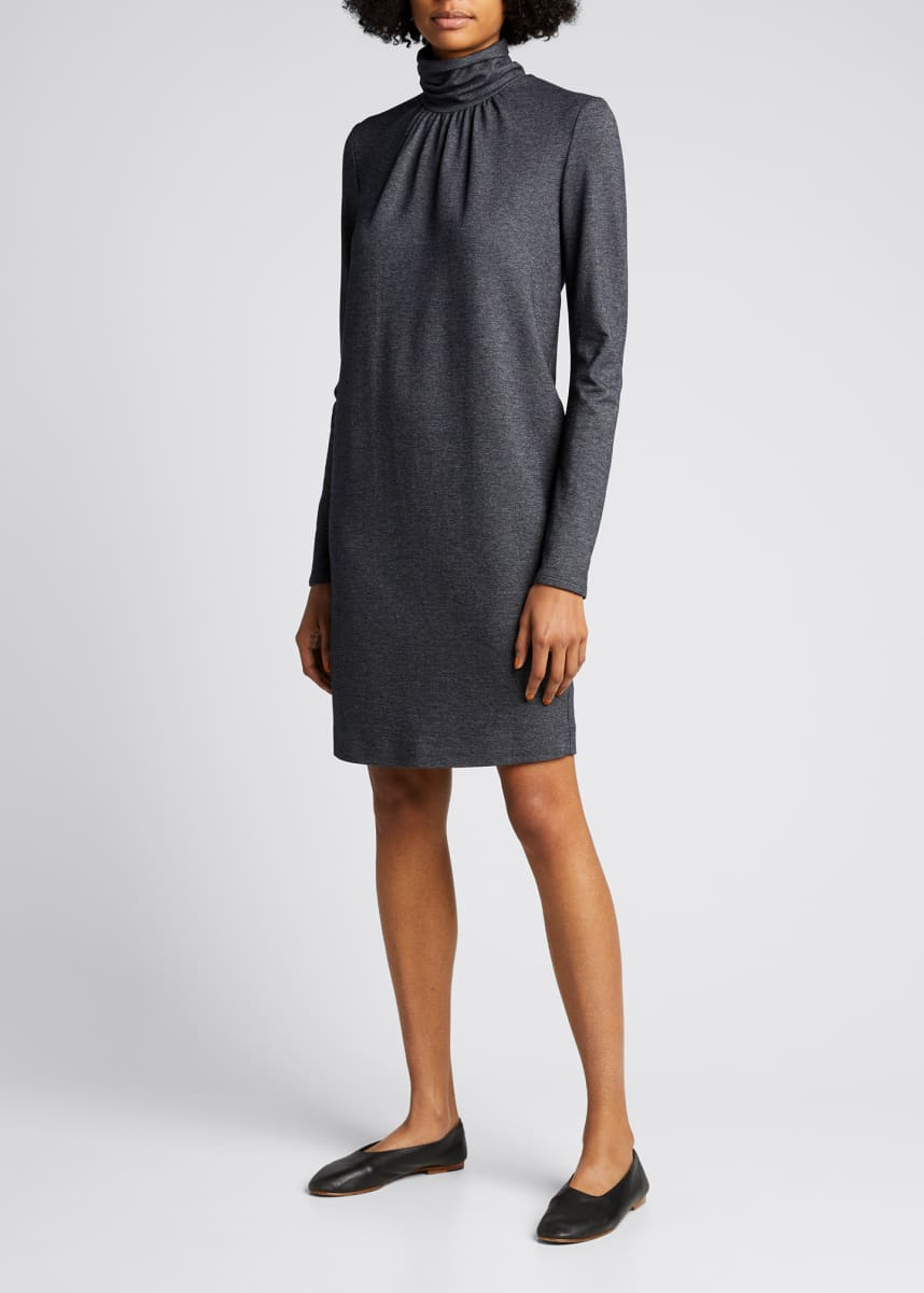 Maxmara Maniero Turtleneck Wool-Blend Dress