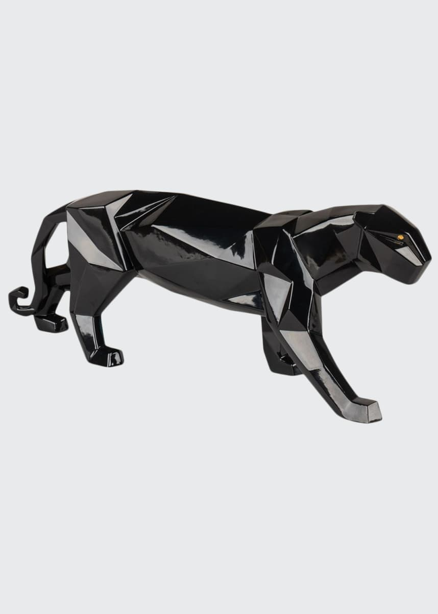 Lladro Origami Black Panther Sculpture