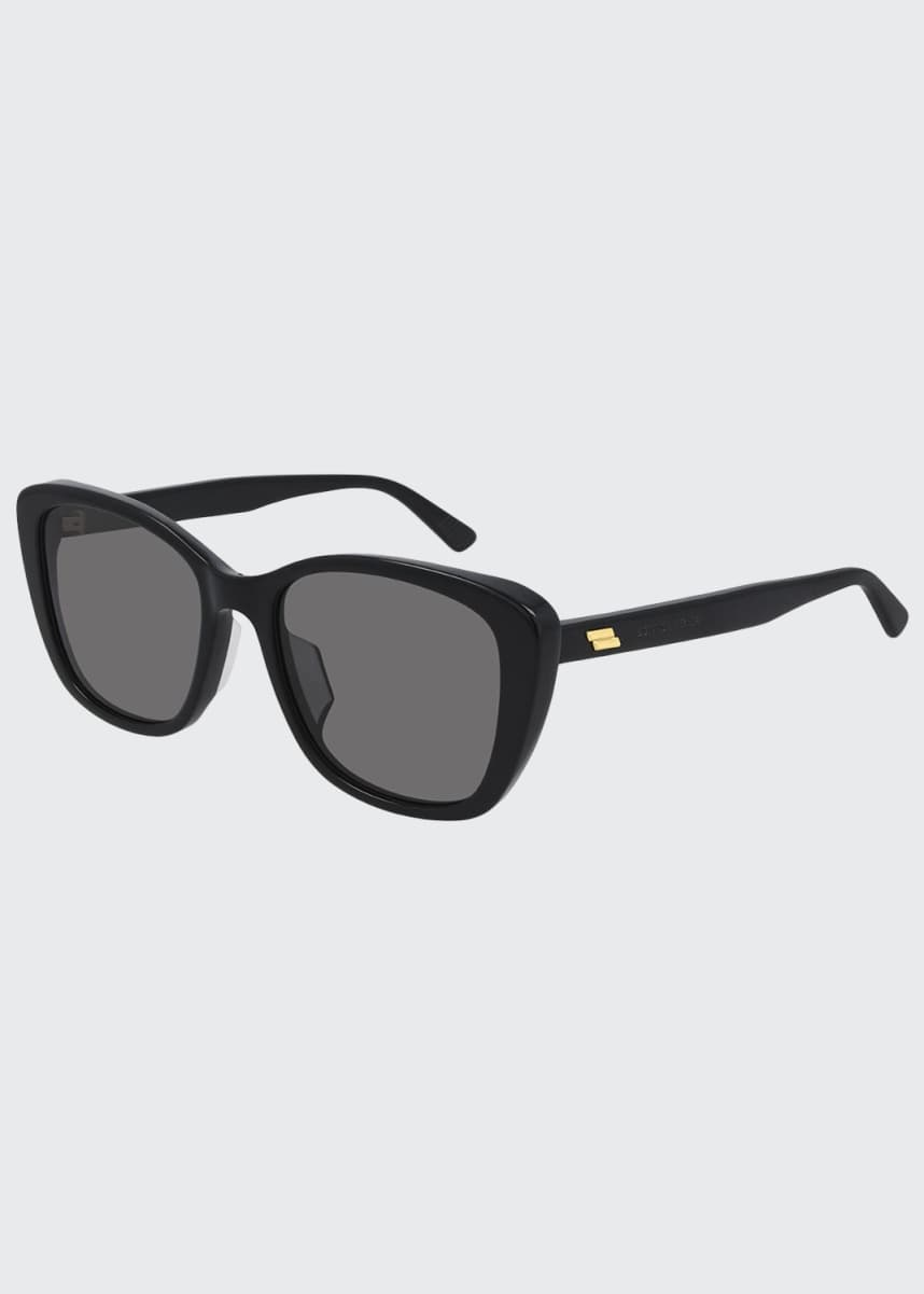 Bottega Veneta Squared Acetate Cat-Eye Sunglasses
