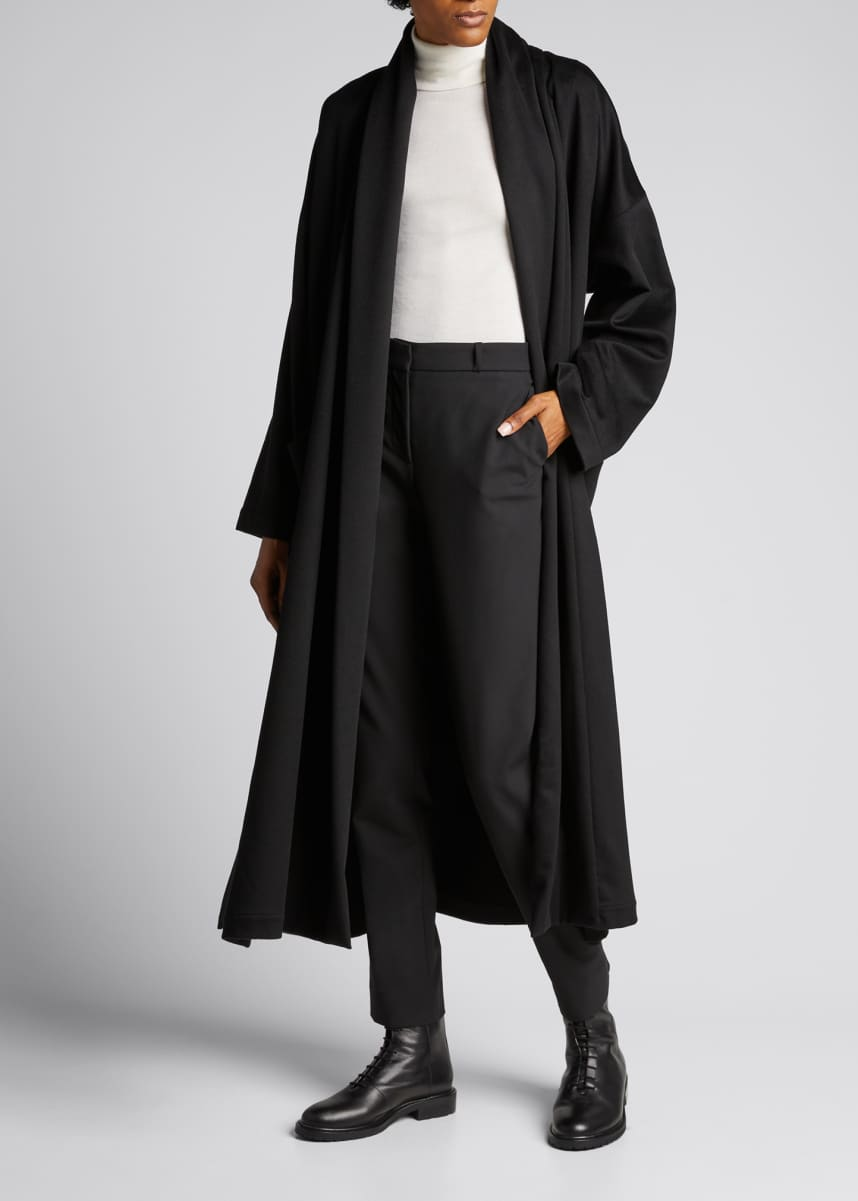 Eskandar Wide Shawl-Collar Cashmere Coat