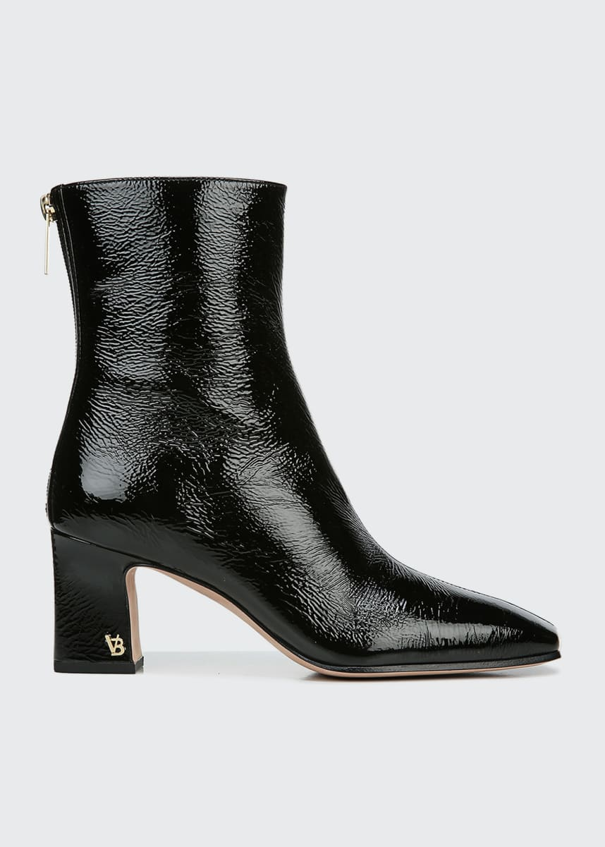 Veronica Beard Bruna Patent Zip Booties