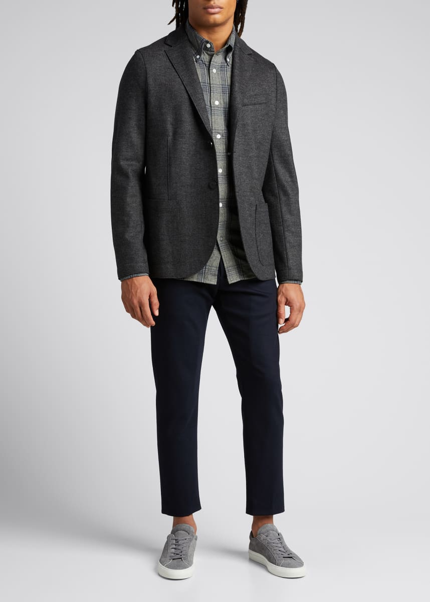 Harris Wharf London Men's Melted Herringbone Sport Jacket