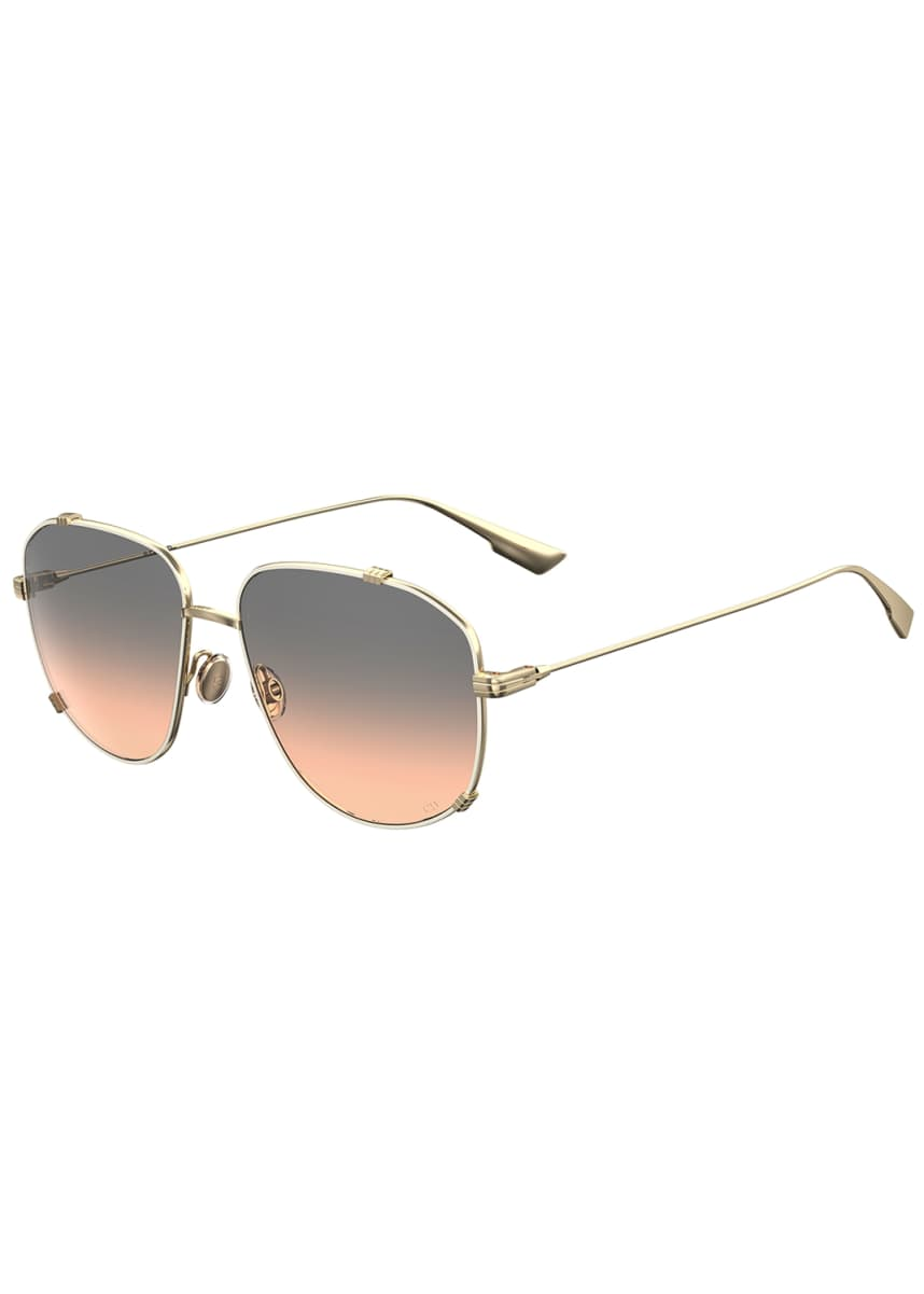 Dior Square Metal Sunglasses