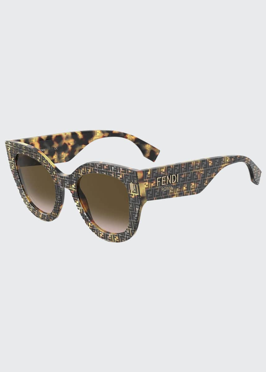 Fendi Oversized Round Acetate Sunglasses