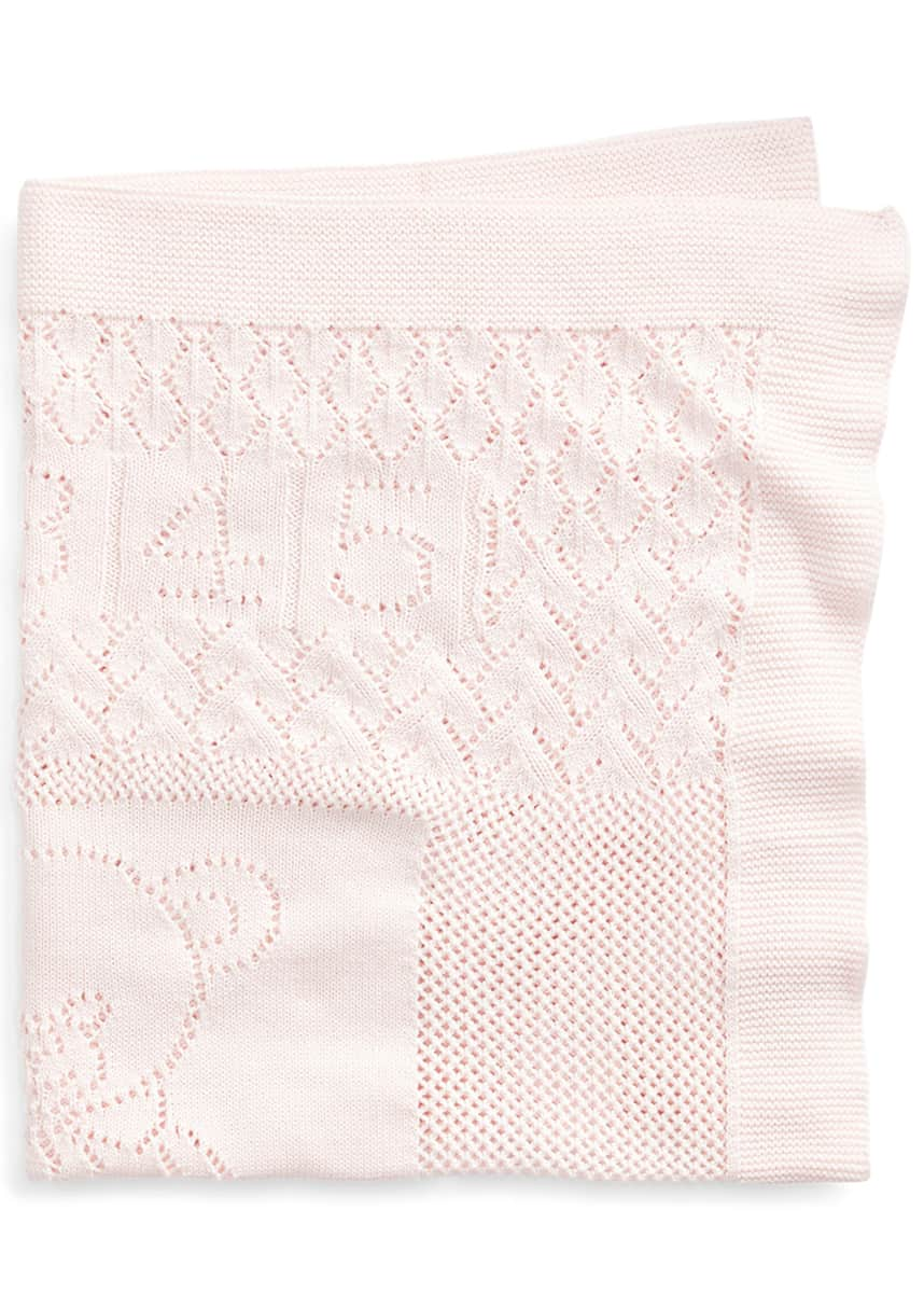 Ralph Lauren Childrenswear Kid's Bear-and-Heart Cotton Blanket