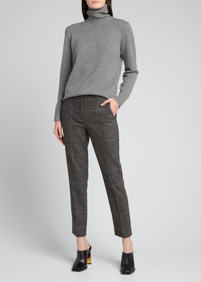 Michael Kors Collection Samantha Plaid Wool-Blend Ankle Pants