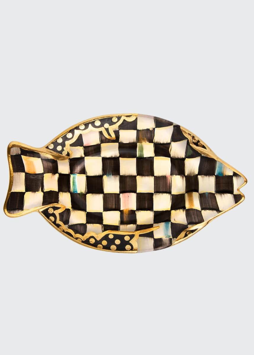 MacKenzie-Childs 25th Anniversary Courtly Check Small Fish Dish