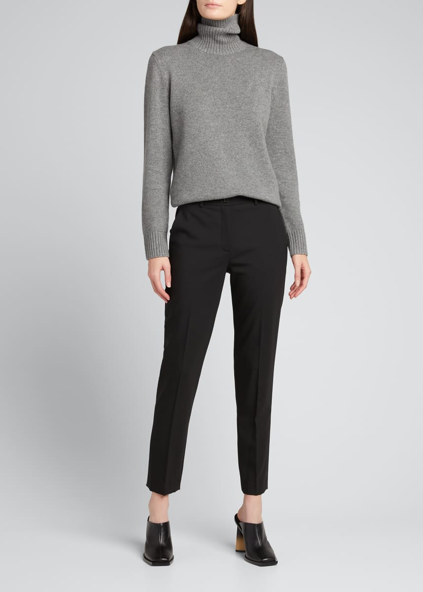 Michael Kors Collection Samantha Slim-Leg Wool Ankle Pants