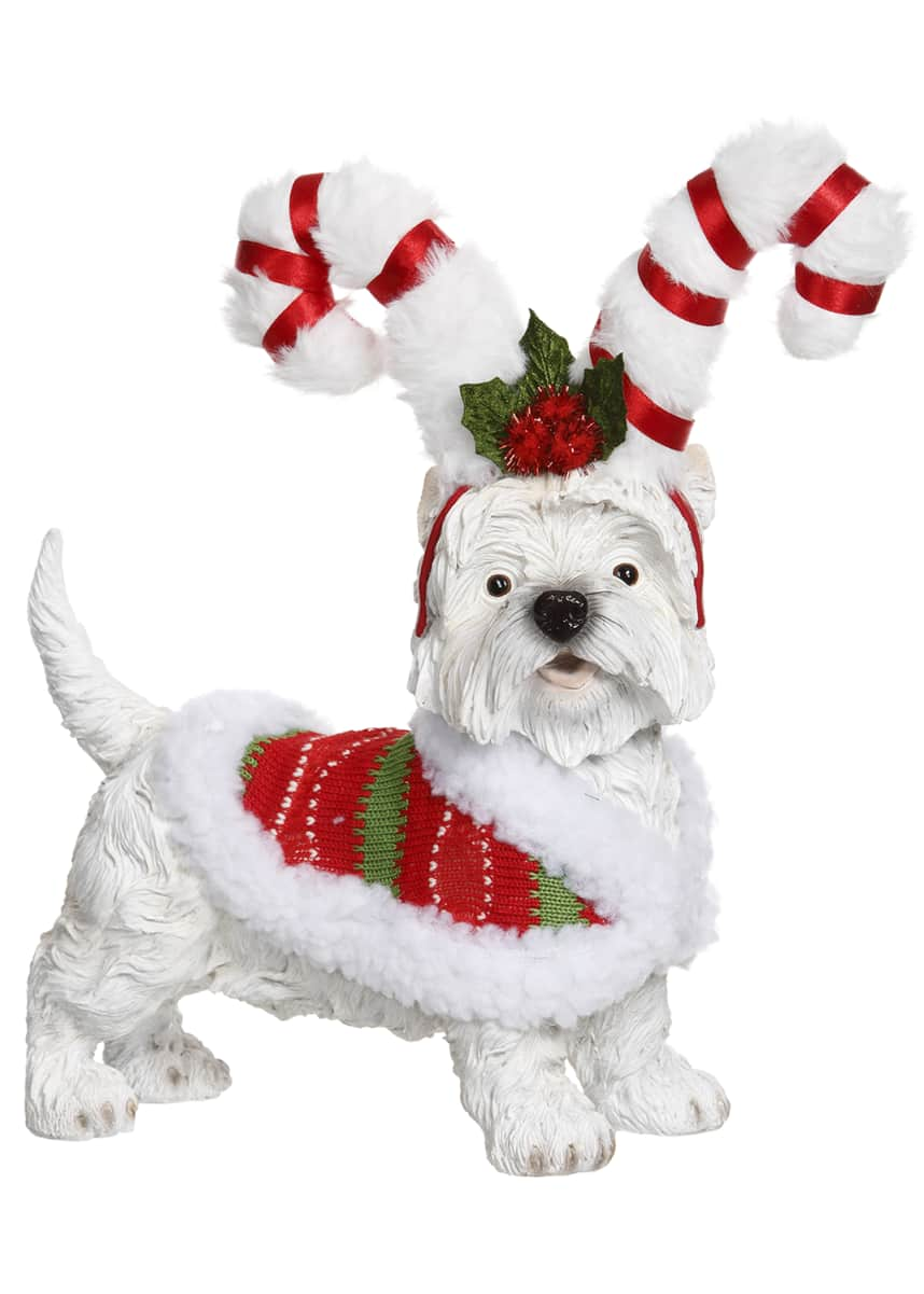 Mark Roberts Christmas Dog with Candy Cane Costume