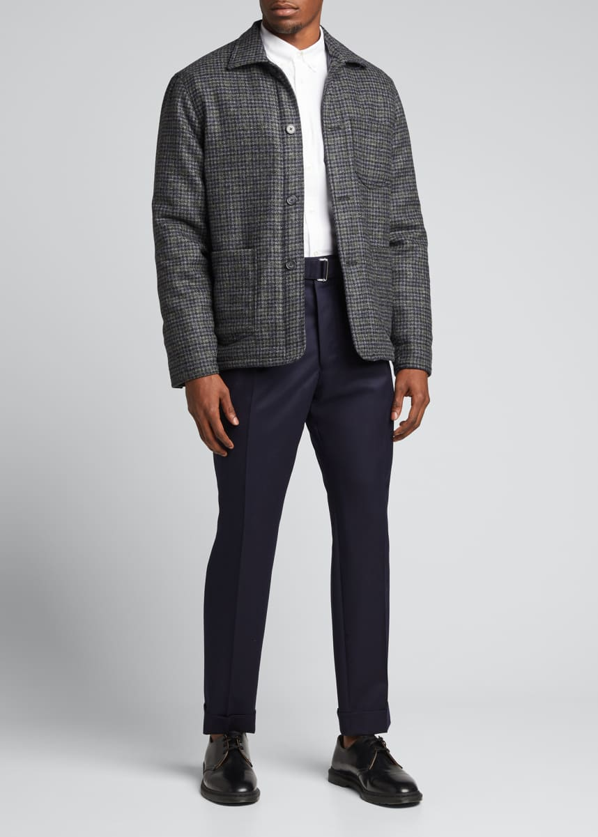 Officine Generale Men's English Wool Houndstooth Chore Jacket