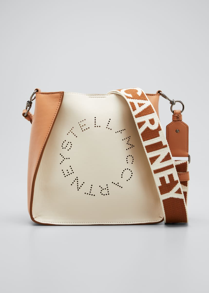 Stella McCartney Mini Bicolor Eco Soft Alter Napa Crossbody Bag