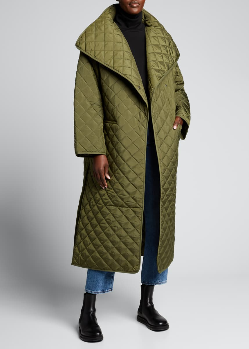 Toteme Annecy Quilted Oversized Coat