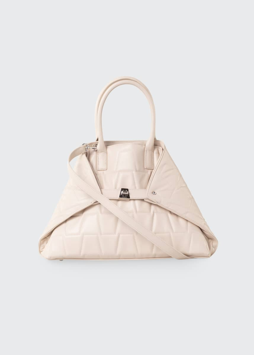 Akris Ai Small Quilted Convertible Tote Bag