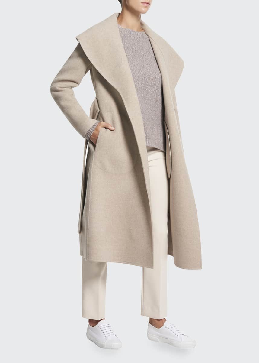 Theory Shawl Wool Long Coat