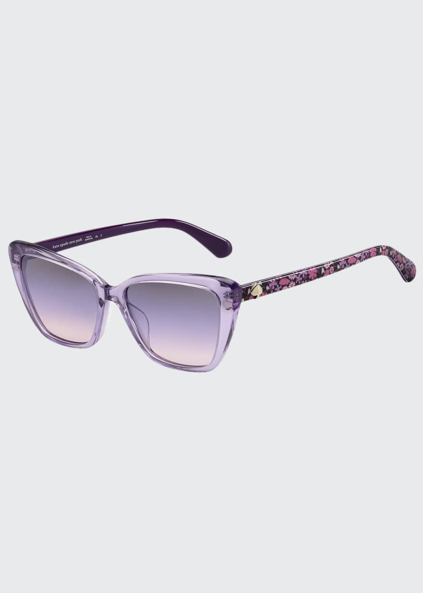 kate spade new york lucca acetate cat-eye sunglasses
