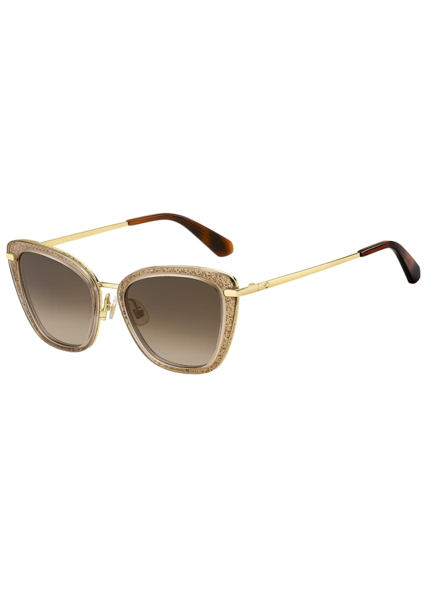 kate spade new york thelma cutout stainless steel cat-eye sunglasses