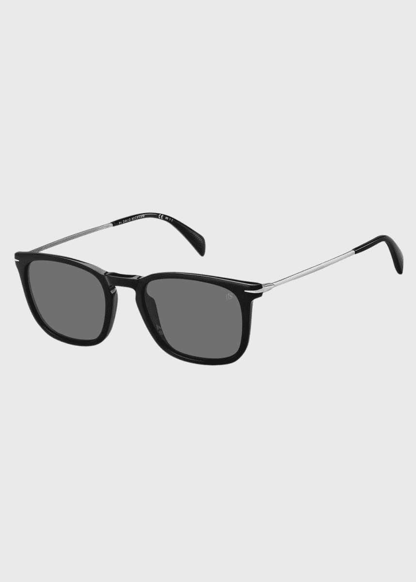 David Beckham Men's Square Acetate Sunglasses