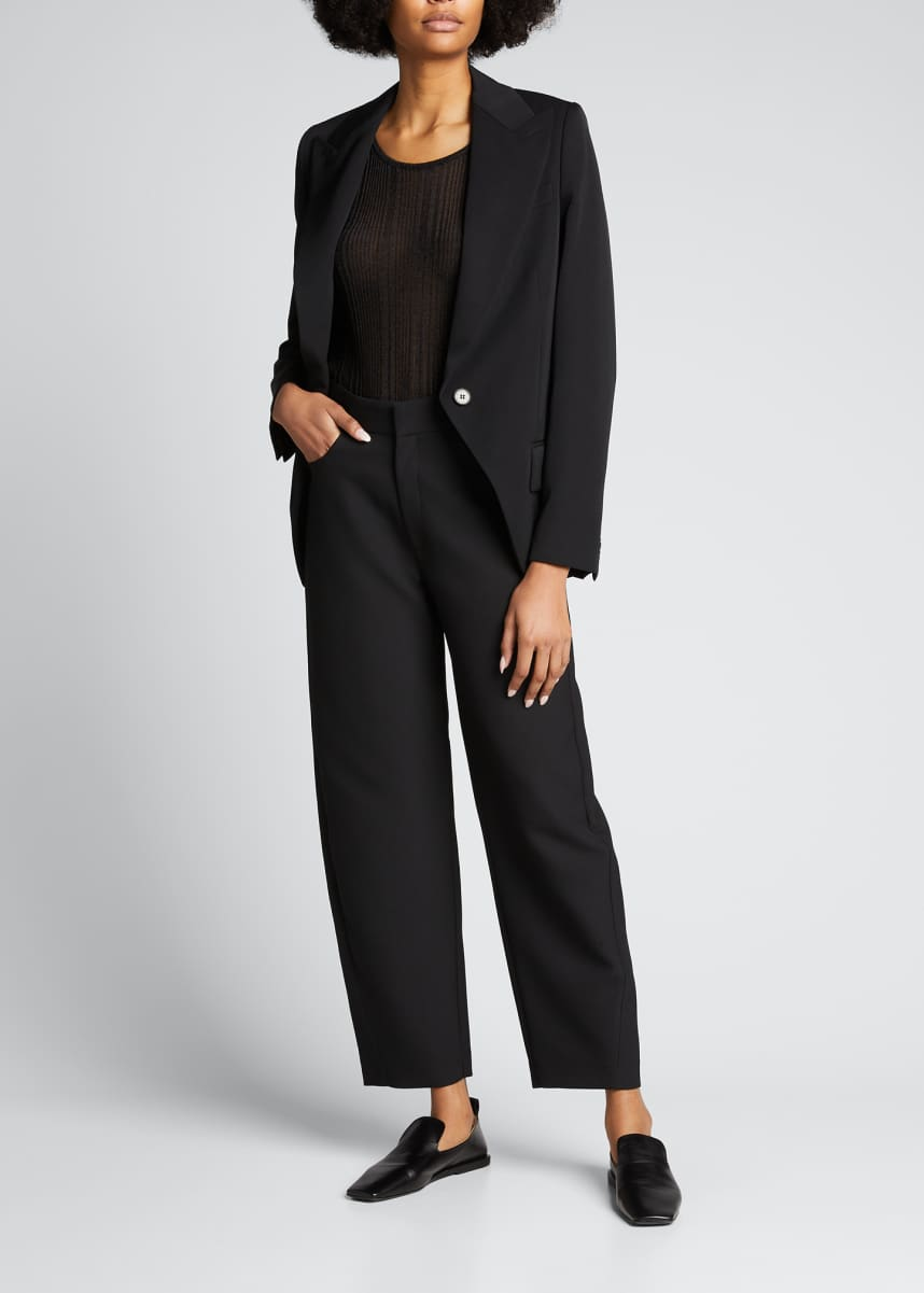 Stella McCartney Shawl-Lapel Cutaway Blazer Jacket