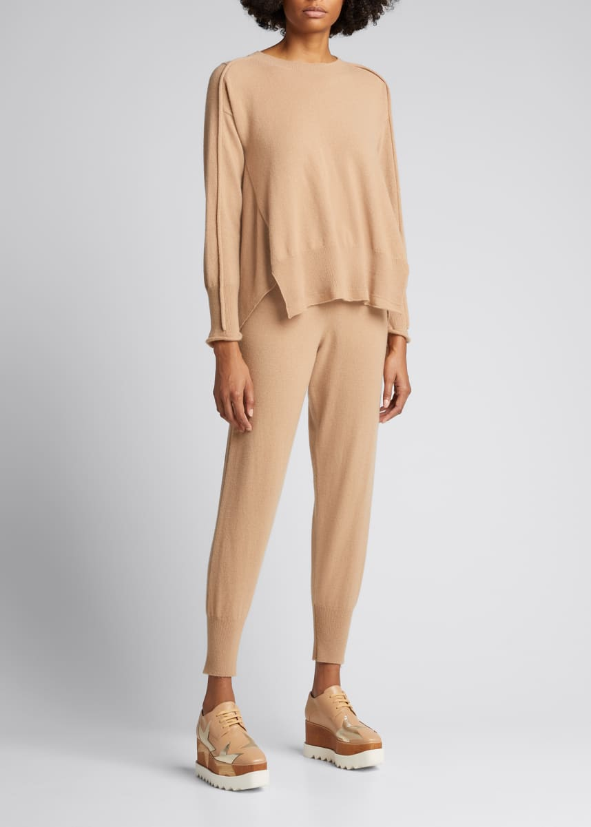 Stella McCartney Cashmere-Wool High-Low Crewneck Sweater