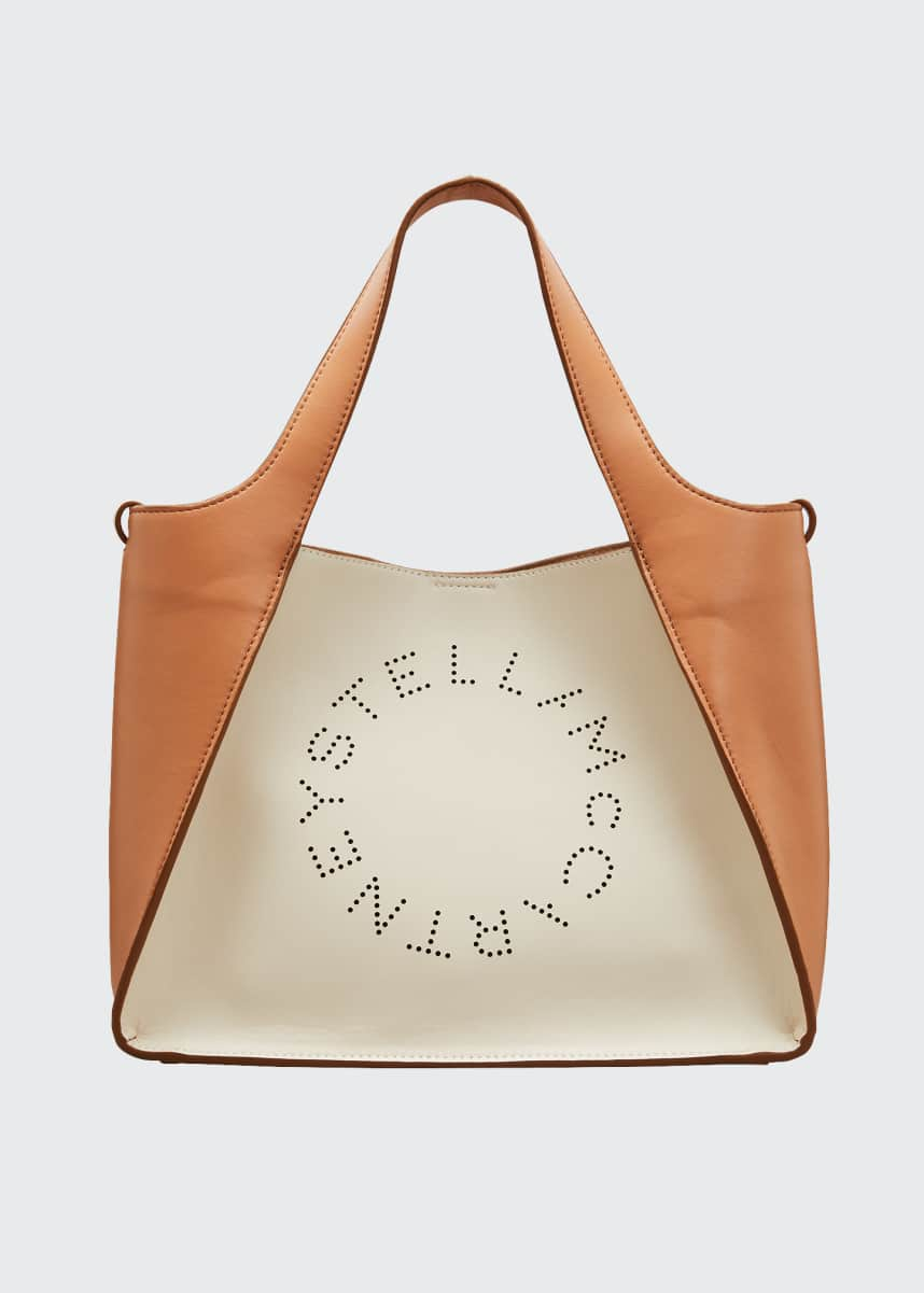 Stella McCartney Alter Bicolor Logo Crossbody Tote Bag