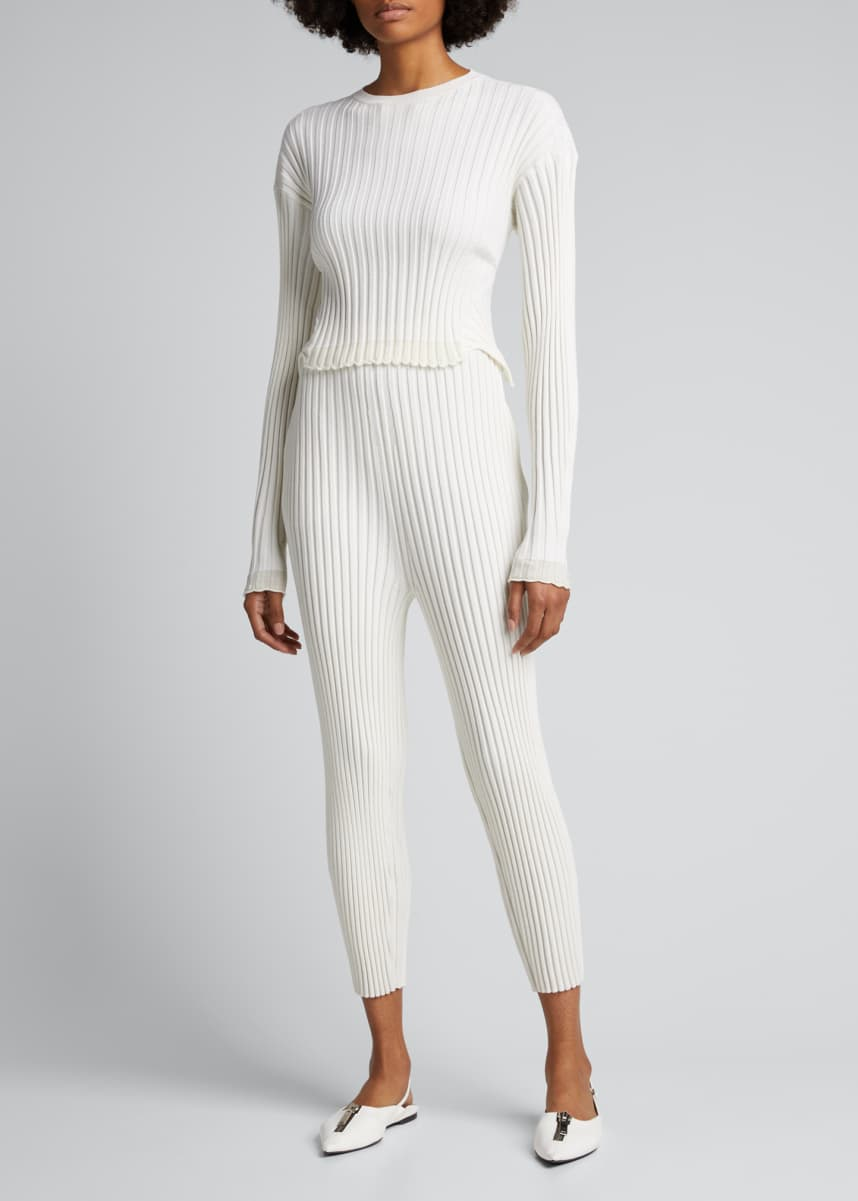 Stella McCartney Ribbed Knit Trouser Pants