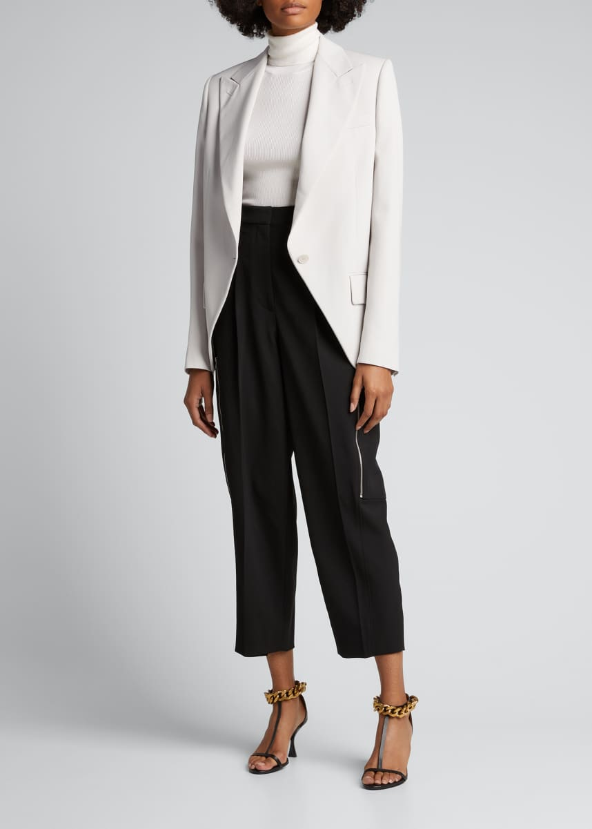 Stella McCartney Cropped Utility Wool Pants
