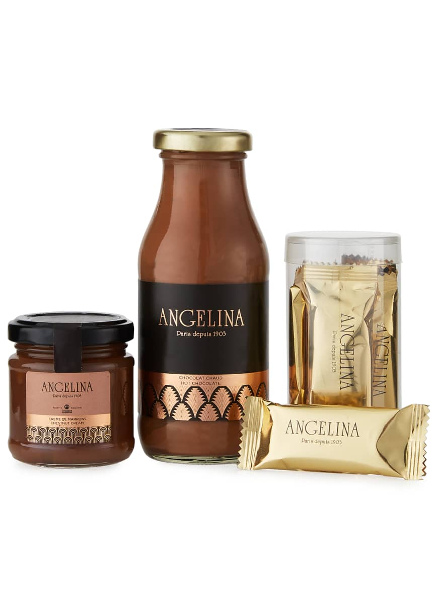 Angelina Emblematics Hot Chocolate, Chestnut Cream, and Crepes Gift Box