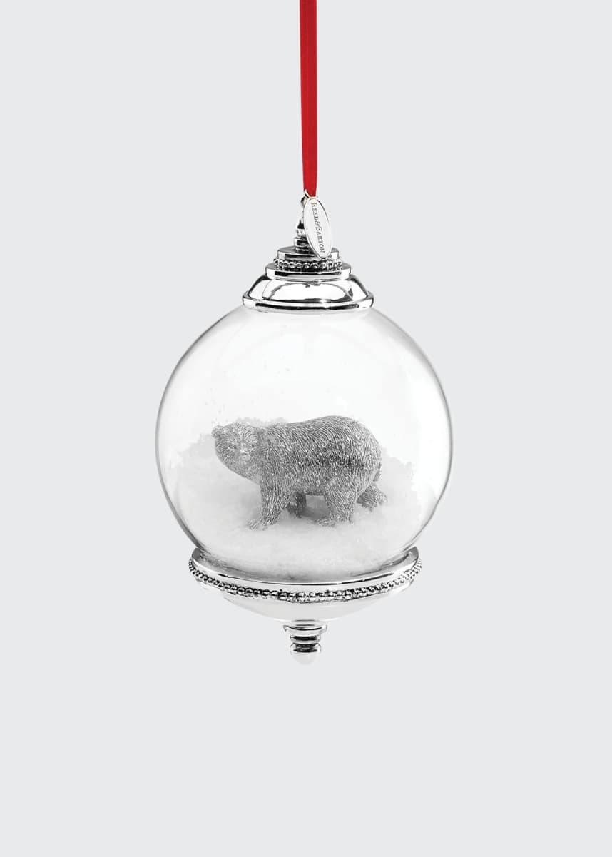 Reed & Barton Polar Bear Snow Globe Ornament
