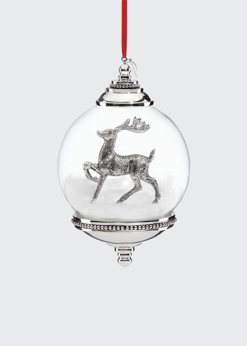 Reed & Barton Reindeer Snow Globe Ornament