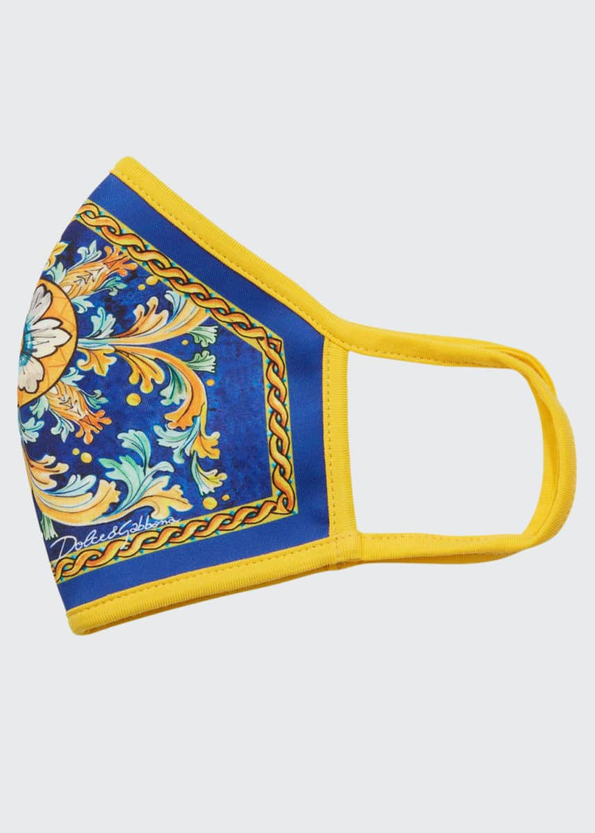 Dolce & Gabbana Reusable Majolica Print Cloth Mask Face Covering