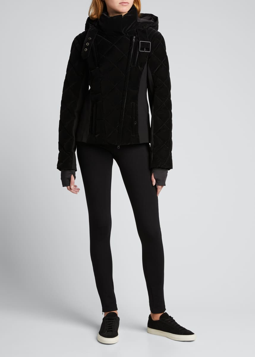 Blanc Noir Carbon-Coated Quilted Jacket