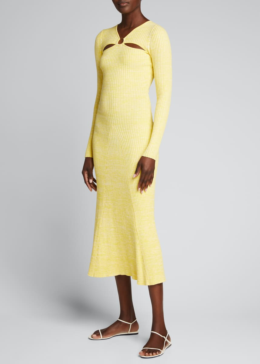 Anna Quan Halle Knit O-Ring Sweater Dress