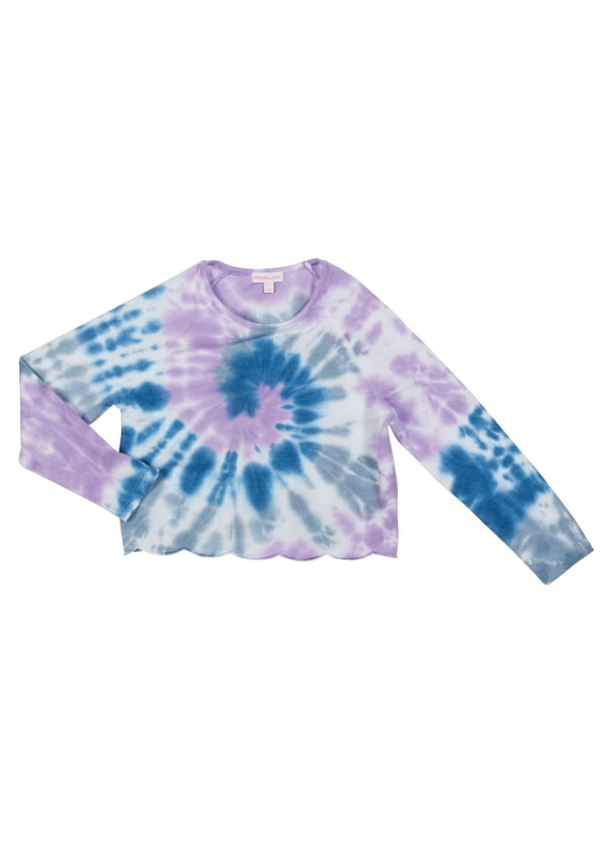 Design History Girls Girl's Tie Dye Long-Sleeve Sweatshirt, Size S-XL